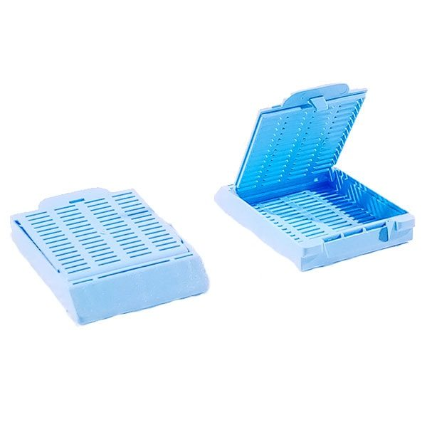 Cassette para inclusion azul