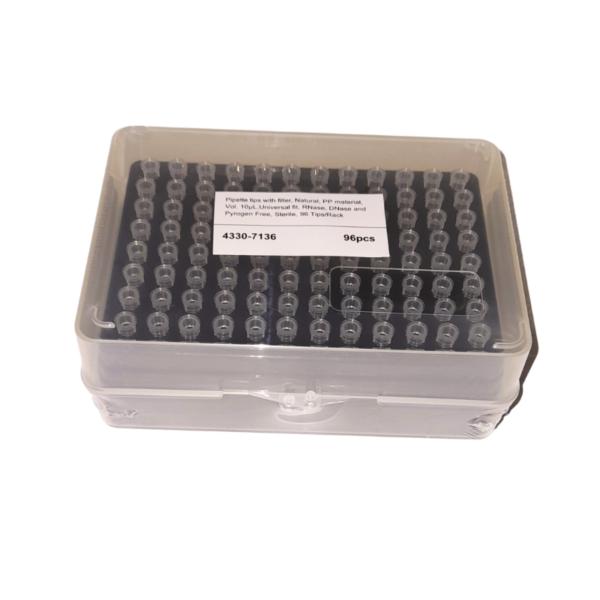 Puntas para Pipeta con Filtro(12 Racks de 96 piezas) marca Citotest